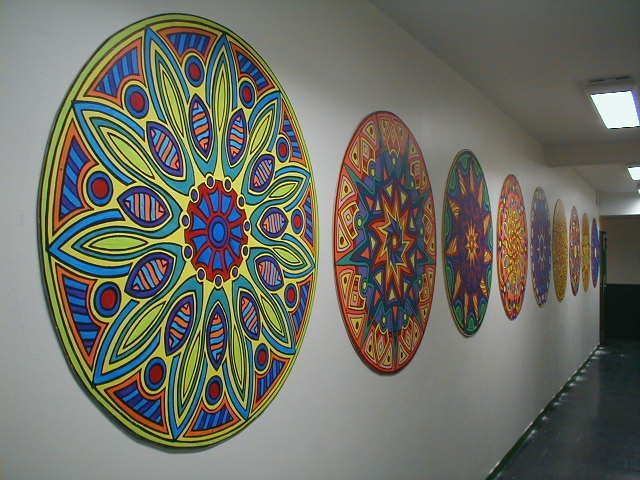 Travaux leve for Mural mandala