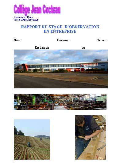 rapport de stage 2 jpg pictures to pin on pinterest Book Covers