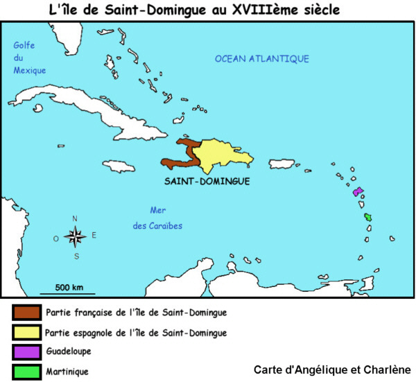Saint Domingue Carte Monde | casamagenta